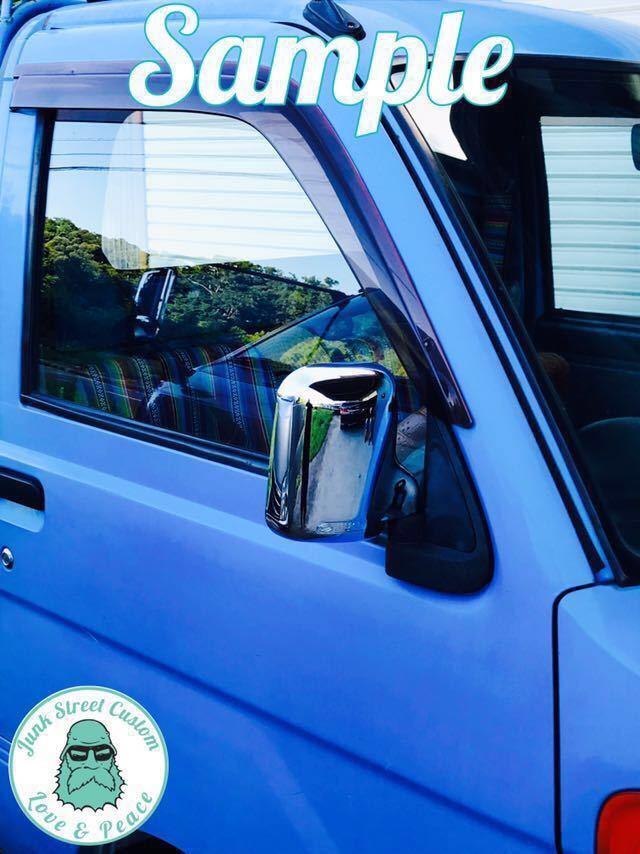 ダイハツ 軽トラ ハイゼット ロゴあり S200P S210P S100 S110 S120 S130 トラック メッキ ドア ミラー カバー