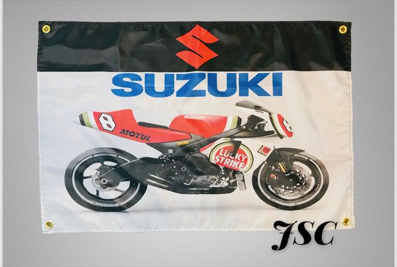 SUZUKI スズキ ラッキーストライク バナー フラッグ BB64