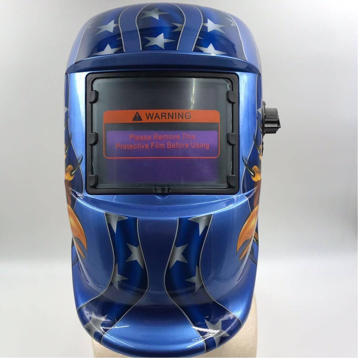 溶接ヘルメット 溶接マスク 太陽エネルギー ソーラー充電式 自動遮光 ハーレー アメ車 カスタム DIY ハンドメイド TIG アーク溶接 ショベル