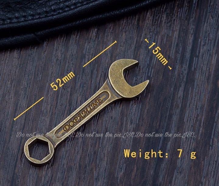 真鍮 スパナ ピストン フック セット ハンドメイド DIYハーレー ショベル