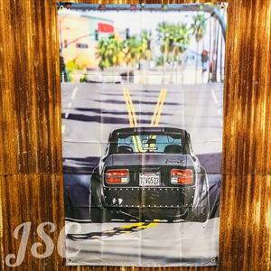 旧車 スカイラインク バナー フラッグ BJ17