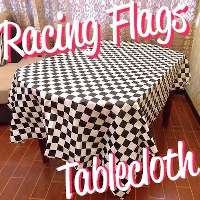 送料無料 レーシング フラッグ テーブルクロス パーティー イベント キャンプ キッチン hot rod ホットロッド レーサー レース ガレージ DIY ハンドメイド アメリカ ハワイ USDM