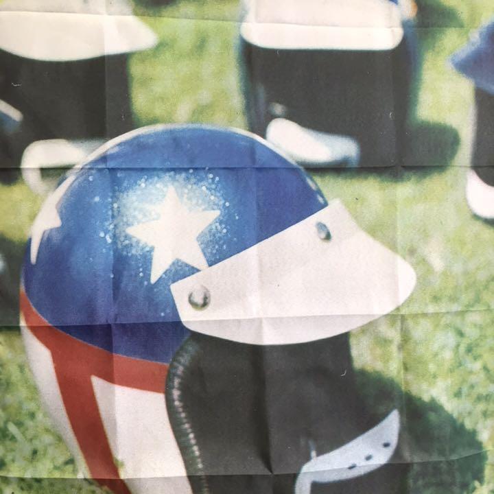 ヘルメット ハーレーダビッドソン フラッグ当時ショベル ソフテイル タンク