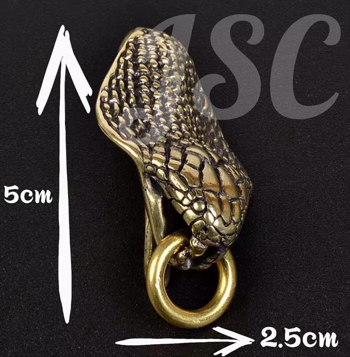 ツイスト キー フック ブラス アクセサリー 真鍮 ハンドメイド ウォレット