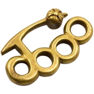 真鍮 メリケン キーホルダー 送料無料  キーリング  バイカー ハーレー 鍵 メンズ レディース キーチェーン DIY ハンドメイド  ゴールド アクセサリー 革財布 レザー ウォレット ネック