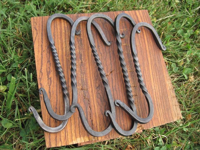 アイアン ツイスト フック ハンガー 鉄 家具 雑貨 ヴィンテージ ハーレー アメリカ ハンドメイド DIY アンティーク ガレージ アメ車 JSC88
