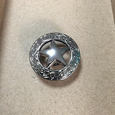 真鍮 ヴィンテージ star 星 コンチョ ヘルメット キーホルダー キーリング  バイカー ハーレー 鍵 キーチェーン DIY ハンドメイド  ゴールド アクセサリー 革財布 レザー ウォレット