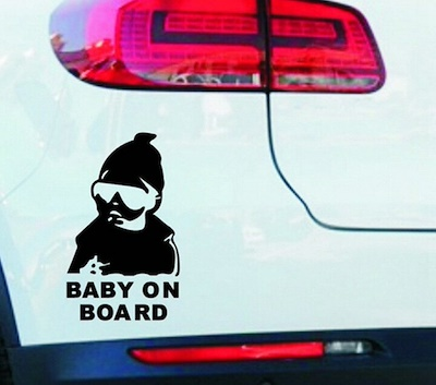 ベビー イン カー ステッカー 子供 サングラス 赤ちゃん アメリカ ハワイ USDM JDM ガレージ 雑貨 世田谷ベース トラック ワゴン バン キューブ シビック86 軽トラ トラック プリウ