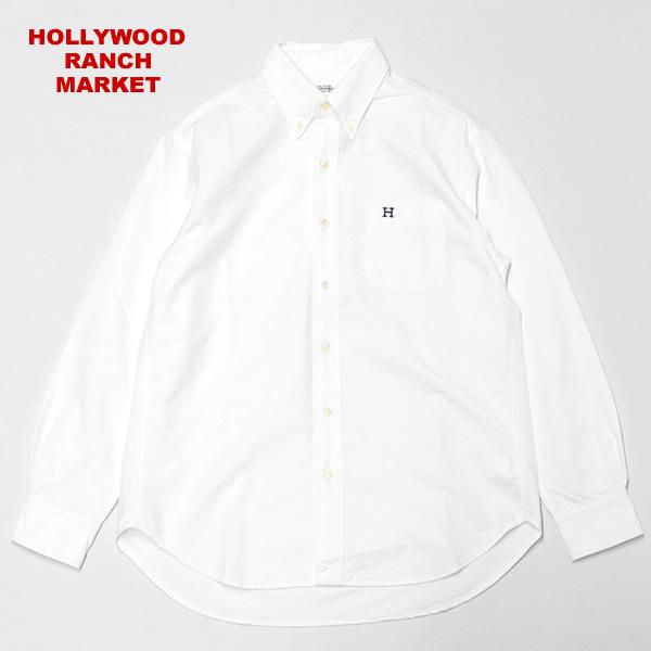 ハリウッドランチマーケット/HOLLYWOOD RANCH MARKET Hエンブロイダリーオックスフォードボタンダウンシャツ 長袖シャツ BDシャツ ハリラン 700087087 メンズ