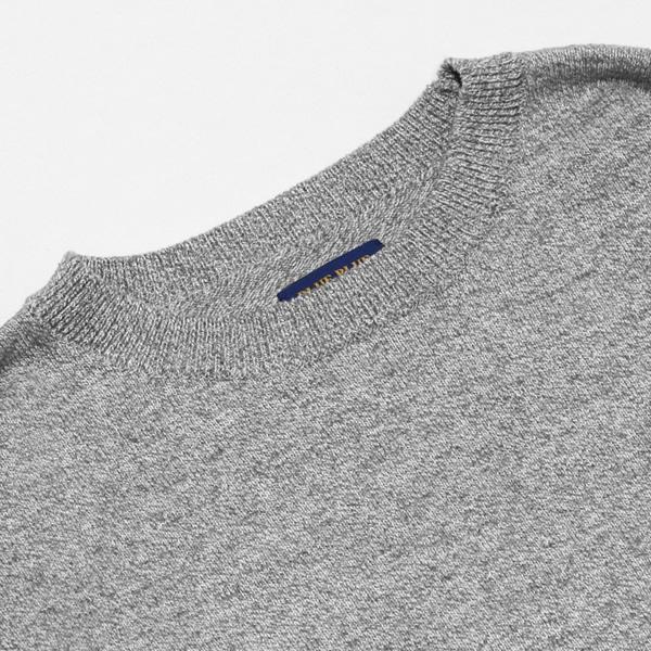 ブルーブルー/BLUE BLUE リサイクルコットン スウェットライク ガンジーニット コットンニットガンジーセーター 700087106 メンズ レディース