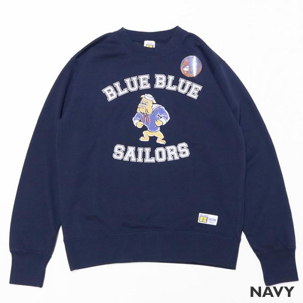 ブルーブルー×ラッセル/BLUE BLUE×RUSSELL ブルドッグ クルーネックスウェット 長袖トレーナー 700087067 メンズ レディース