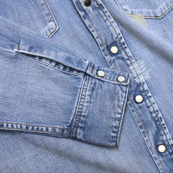 ブルーブルー/BLUE BLUE ライトデニムオールドスクールウエスタンシャツ デニムシャツ 700072697 メンズ レディース