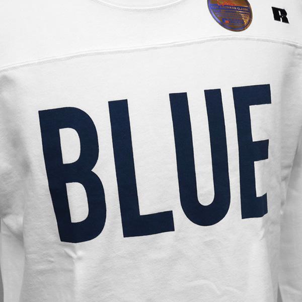 ブルーブルー×ラッセル/BLUE BLUE×RUSSELL ビッグブルーフットボールシャツ 長袖Tシャツ BIG BLUE FOOTBALL SHIRTS 700085362 メンズ レディース【1点のみメール便可能】
