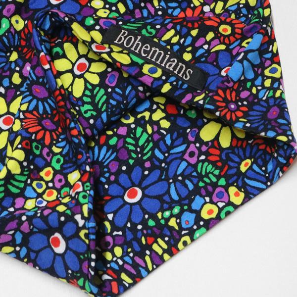 ボヘミアンズ/BOHEMIANS モザイクフラワーワッチキャップ 帽子 花柄 MOSAIC FLOWER WATCH CAP BH09 メンズ レディース【メール便可能】