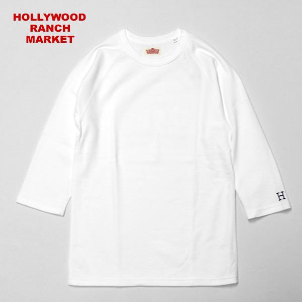【9/24再入荷】ハリウッドランチマーケット/HOLLYWOOD RANCH MARKET 【定番カラー6色】ストレッチフライスクルーネックハーフスリーブTシャツ 丸首七分袖Tシャツ ハリラン 700025007 メンズ レディース【1点のみメール便可能】