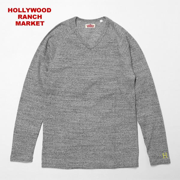 【10/15再入荷】ハリウッドランチマーケット/HOLLYWOOD RANCH MARKET 【定番カラー6色】ストレッチフライスVネックロングスリーブTシャツ 長袖Tシャツ ロンTEE STRETCH FRAISE V/N L/S ハリラン 700072975/700025012 メンズ レディース【1点のみメール便可能】