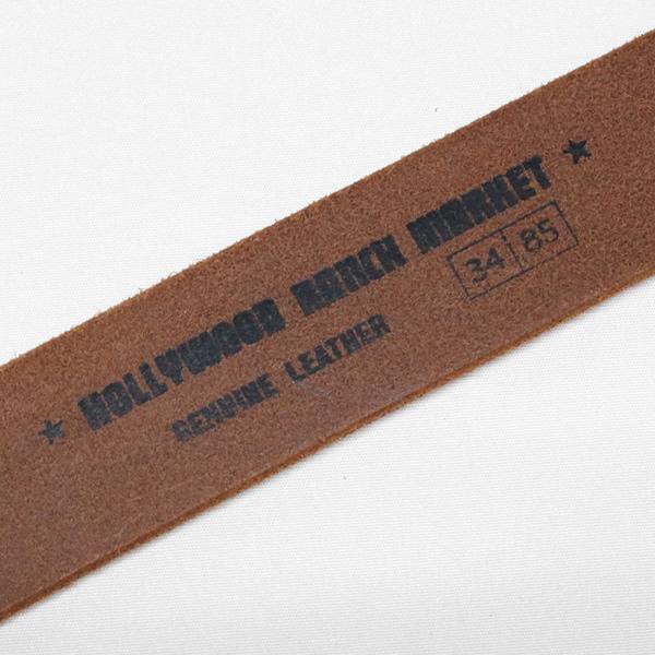 ハリウッドランチマーケット/HOLLYWOOD RANCH MARKET メタルバックルHベルト レザーベルト METAL BUCKLE H BELT 077592800 メンズ レディース