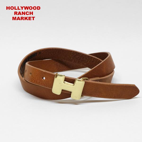 ハリウッドランチマーケット/HOLLYWOOD RANCH MARKET Hフォームレザーベルト H FORM LEATHER BELT 700041550 メンズ レディース