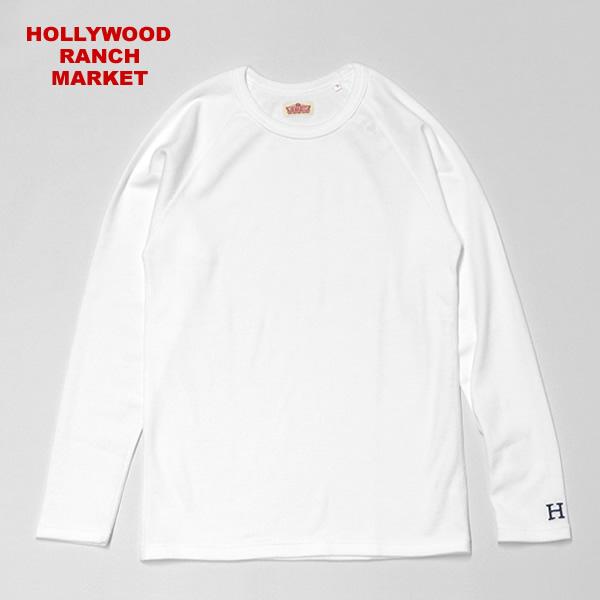 ハリウッドランチマーケット/HOLLYWOOD RANCH MARKET 【定番カラー6色】ストレッチフライスクルーネックロングスリーブTシャツ 長袖Tシャツ ロンTEE STRETCH FRAISE C/N L/S ハリラン 700025011 メンズ レディース【1点のみメール便可能】