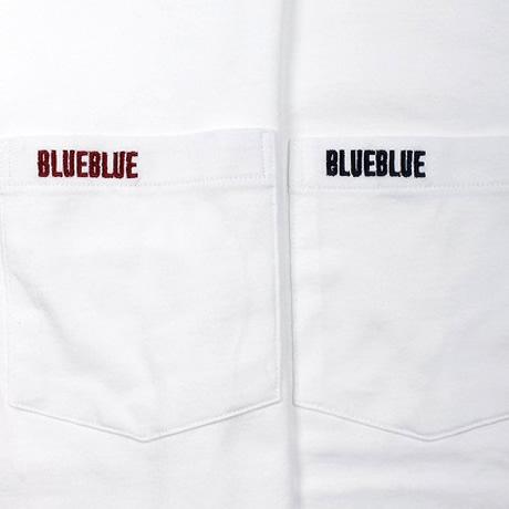 【再入荷】ブルーブルー×フルーツオブザルーム/BLUE BLUE×FRUIT OF THE LOOM クルーネック2パックポケットTシャツ ロゴ刺繍半袖Tシャツ 70009868 メンズ レディース【1セットのみメール便可能】