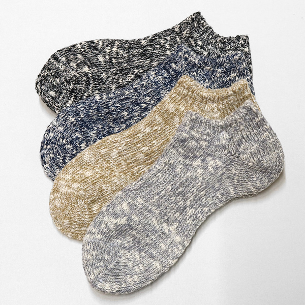 マウナケア/Mana Kea スラブネップスニーカーソックス 靴下 118183 メンズ【メール便可能】