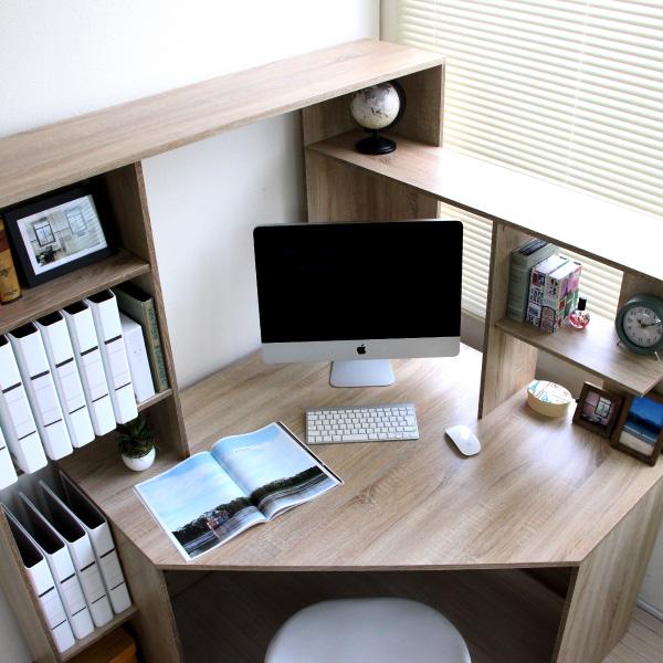 パソコンデスク L字型 コーナー 幅125cm 幅100cm L字 ブラウン リニューアルサイズ