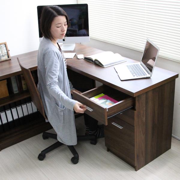 パソコンデスク L字型 コーナー 幅120cm