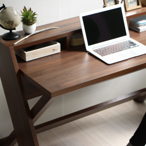 パソコンデスク 幅125cm デスク 机 つくえ ワークデスク PCデスク オフィスデスク ハイタイプ