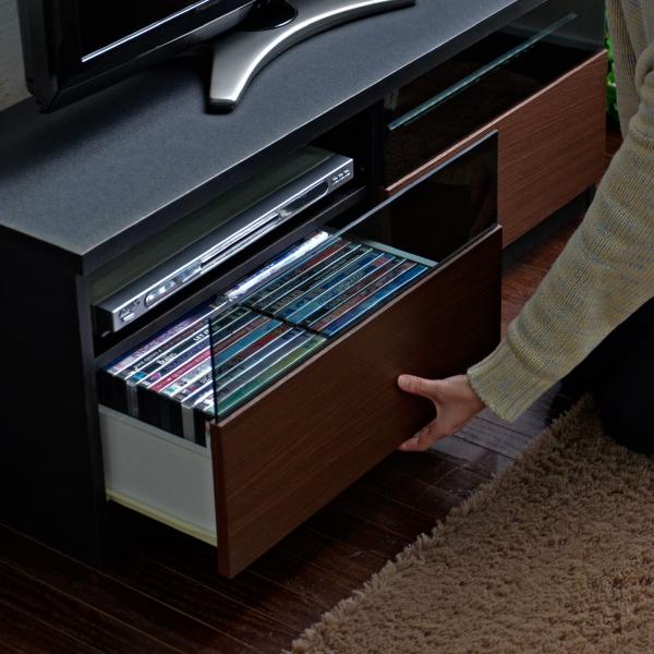 テレビ台 ローボード 105cm幅 テレビボード ブラック TV台
