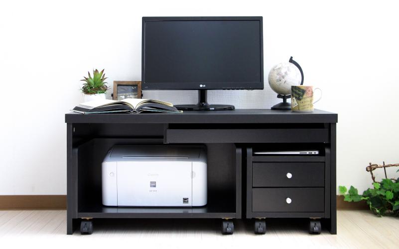 パソコンデスク 3点セット ローデスク ロータイプ 幅90cm コンパクト
