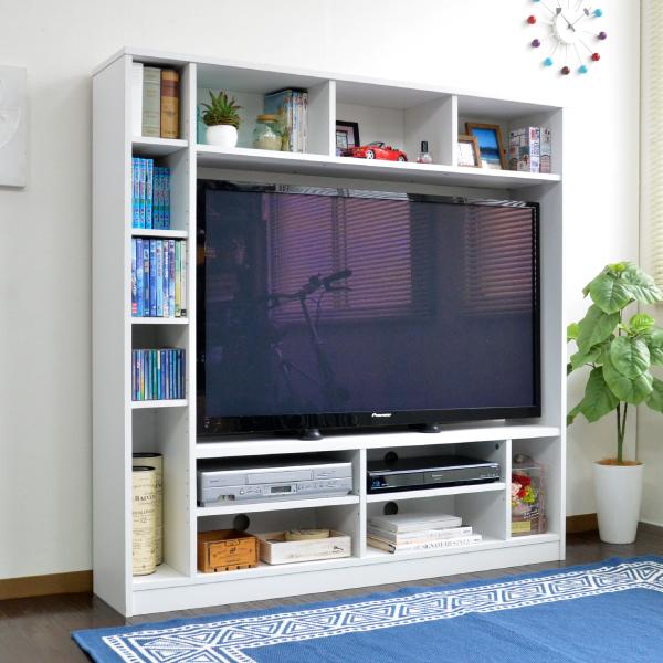 テレビ台 ハイタイプ 壁面家具 リビング壁面収納 50インチ対応 135cm幅