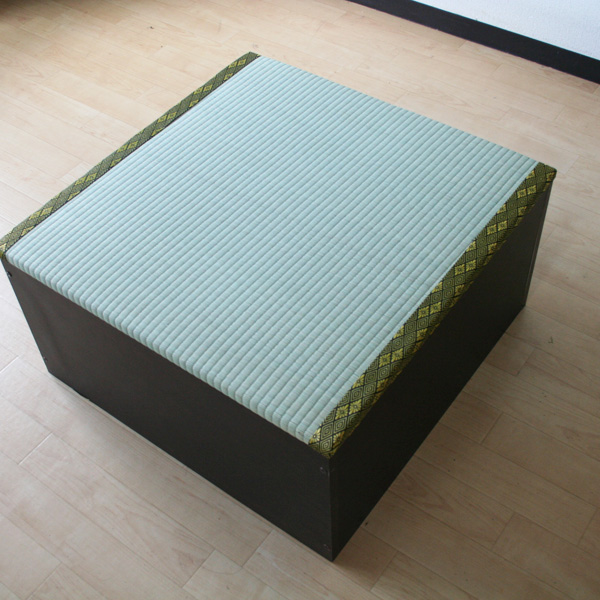 ユニット畳 収納 半畳タイプ ダークブラウン ロータイプ 国産 小上がり 下収納 和風 モダン