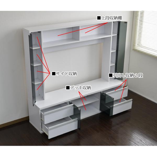 テレビ台 ハイタイプ 壁面家具 リビング壁面収納 50インチ対応 TV台 テレビラック ゲート型AVボード 150cm幅