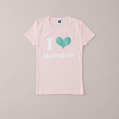 JTマーヴェラス I LOVE Tシャツ (ピンク/Sサイズ)