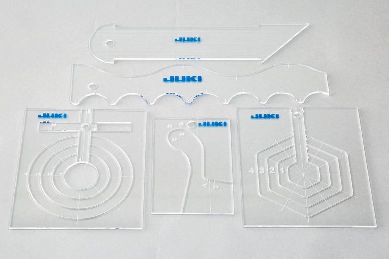 【送料無料】 キルト用ルーラーセット(5点セット) HZL用【家庭用ミシン用】【職業用ミシン用】