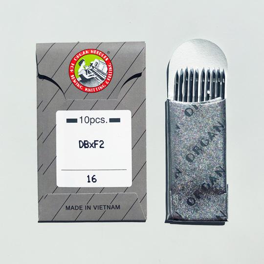 【オルガン針】(丸針)工業用ミシン針 職業用ミシン針 【DB×F2 #16】16番10本入り(皮革用)