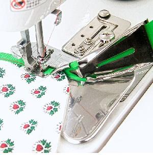 ◆メーカーお取り寄せ◆ 【送料無料】 四ツ折りバインダー(押え金SA85付き)テープ幅38� 職業用ミシン用