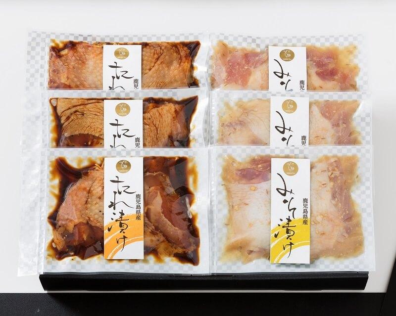 【ギフト対応商品】若鶏みそ漬け・たれ漬けセット(鹿児島県産)【全国送料無料】