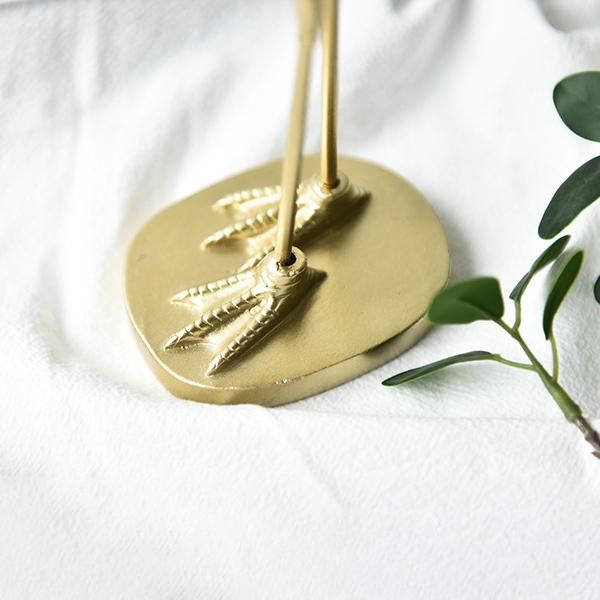 ゴールド フラミンゴ オブジェ 置物 飾り物  金色 ハンドメイド