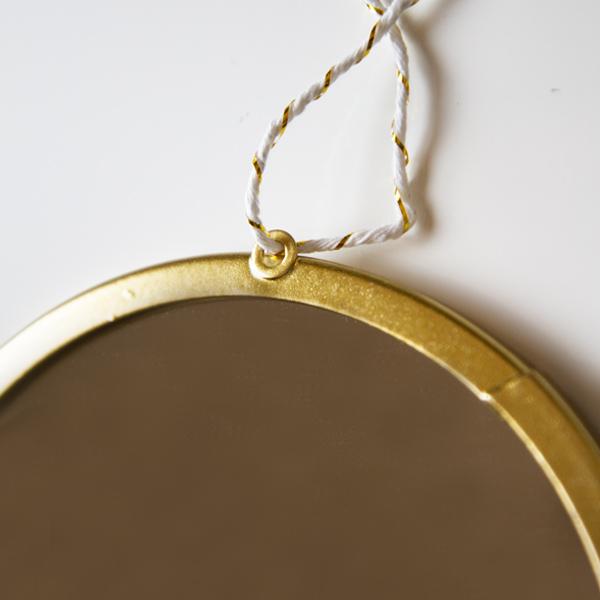 【メール便 送料無料】BOHOモダンスタイル ゴールド 壁掛けミラー 鏡 タッセルタイプ サイズ M