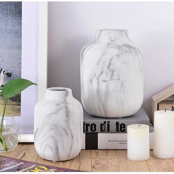 大理石柄 フラワーベース インテリア用 花瓶 サイズ 大