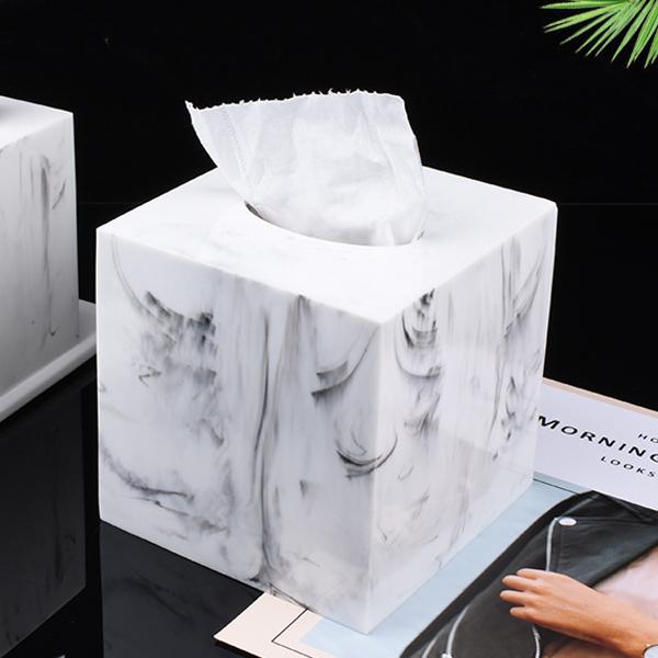 縦型ティッシュケース 大理石柄 ティッシュボックス  ロールペーパーボックス 北欧モダン マーブル