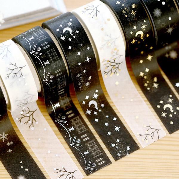 【メール便 対応】マスキングテープ 1.5cm幅 レトロ柄 DIY スクラップブック用