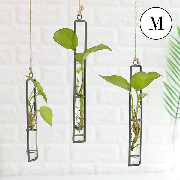 インダストリアル 壁吊り シリンダー型 フラワーポット 花瓶 ハンガーフラワーポット サイズM