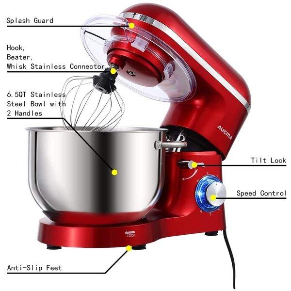 6スピード スタンドミキサー Aucma 6.lL&660W
