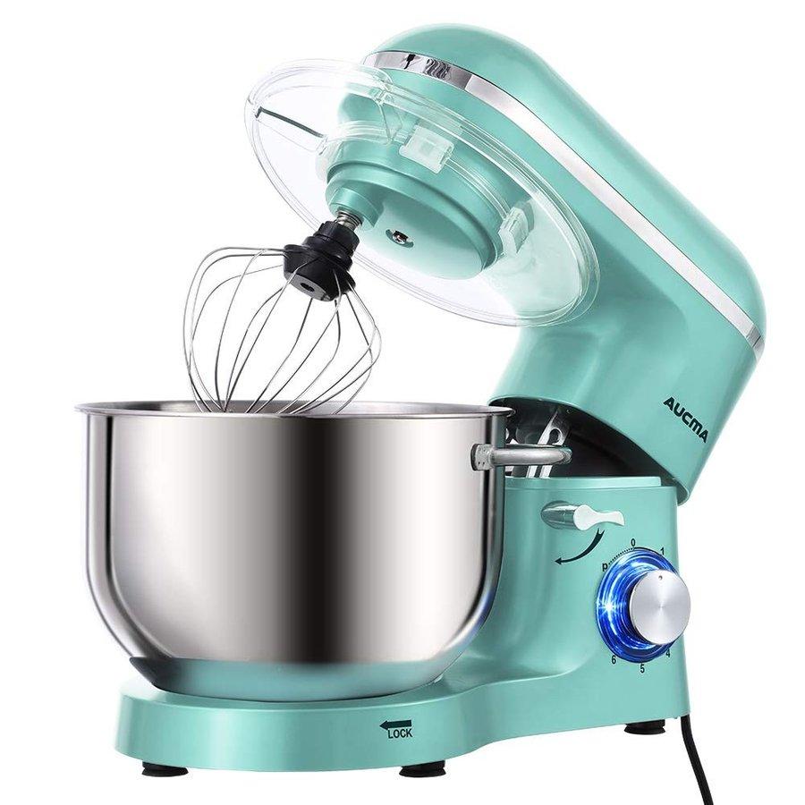 オークマ キッチン電動スタンドミキサー Aucma 660W 6速チルトヘッド食品ミキサー ブルー