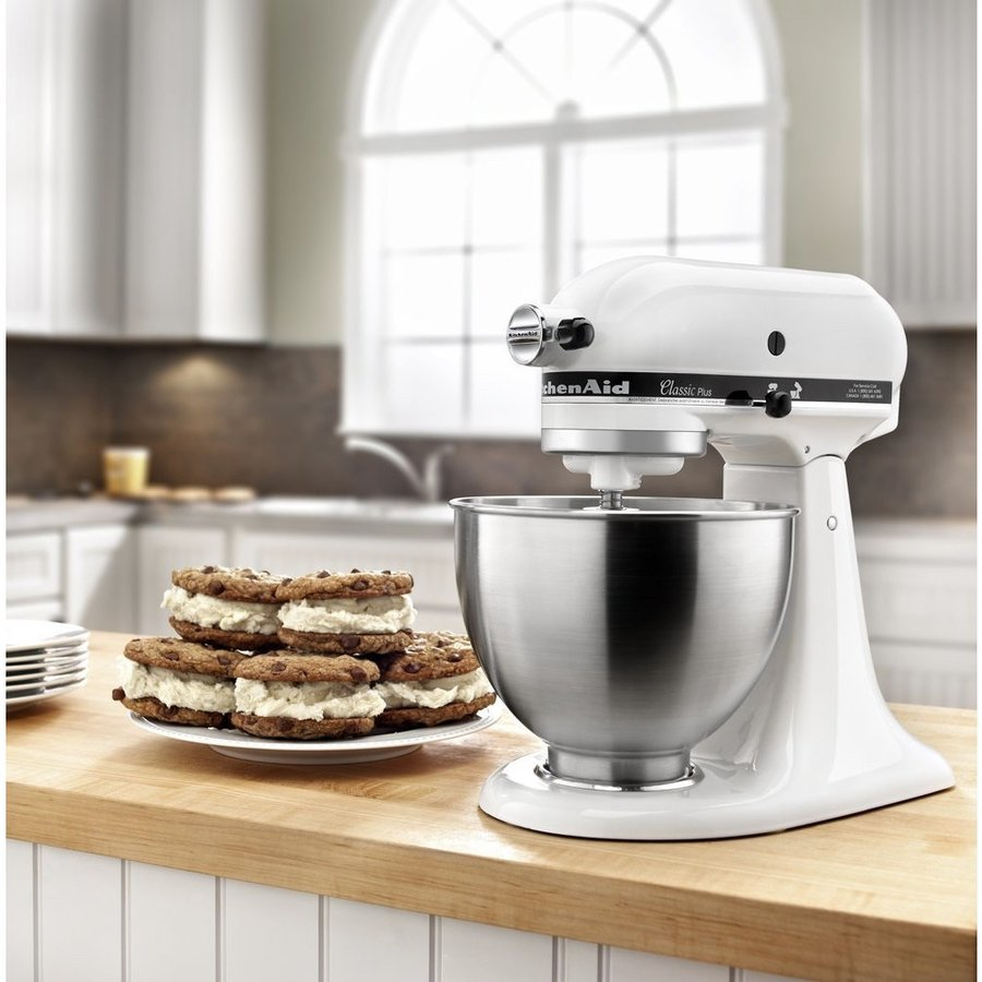 キッチンエイド KitchenAid スタンドミキサー KSM75WH 4.5-Qt. Classic Plus Stand Mixer - White アメリカキッチン家電