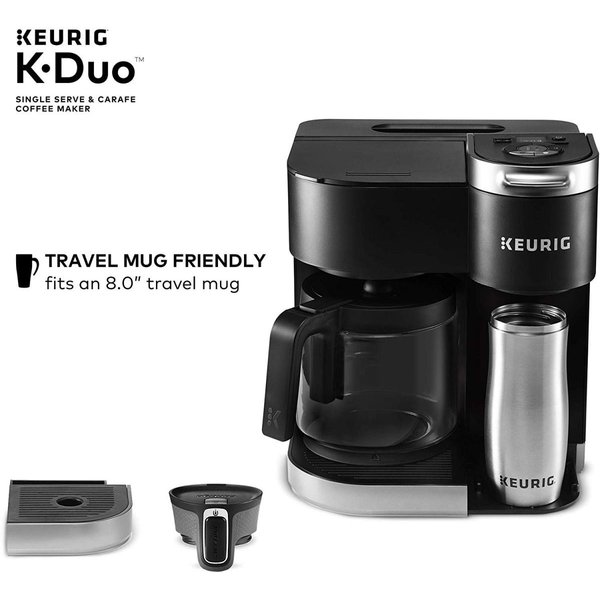 キューリグ コーヒーメーカー Keurig デュオ シングルカップ ポッド 2通り 粉砕コーヒー