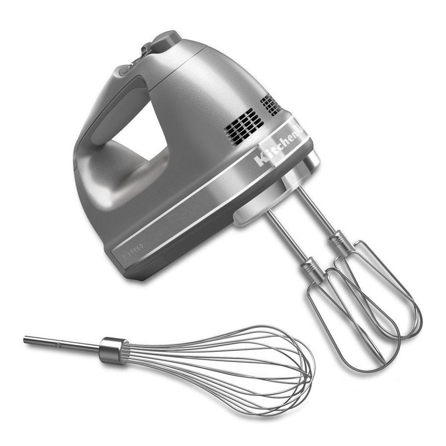 キッチンエイド KitchenAid KHM7210CU 7 スピード ターボ ハンドミキサー 泡だて器 デジタル アタッチメント付き シルバー アメリカキッチン家電
