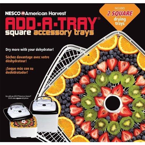 ネスコ NESCO 食品乾燥機 トレイ スクエア FD-80 FD80A ホワイト セット 並行輸入